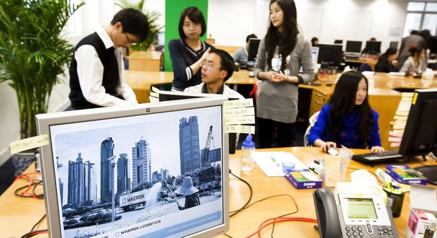Den digitale udvikling vender i øjeblikket op og ned på masser af brancher. OG det rammer også A.P. Møller - Mærsks logistikvirksomhed Damco. Her ses Damco-kontoret i Chengdu, Kina.