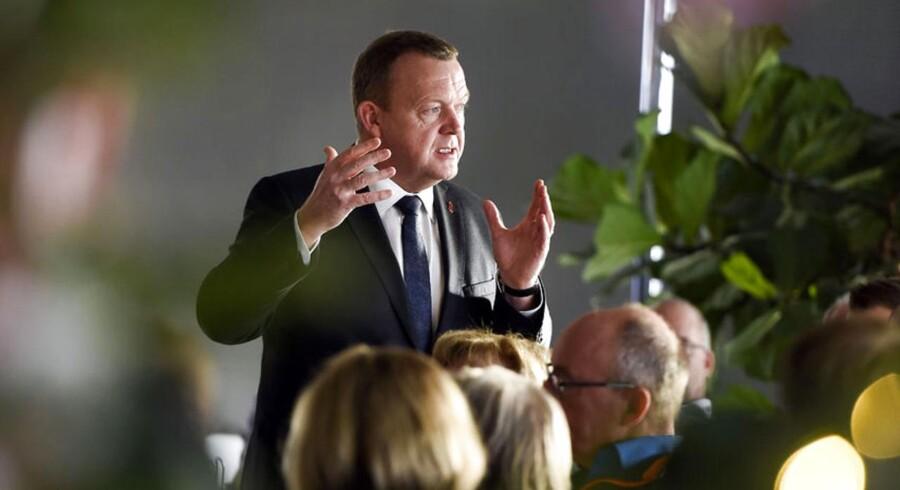 Statsminister Lars Løkke Rasmussen besøger Sparekassen Kronjylland i anledningen af EU-afstemningen.