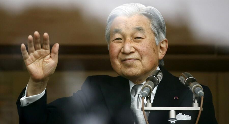 Japans 82-årige kejser, Akihito, siger i en tale, at han er bekymret for, at alderen hindrer ham i at udføre sine forpligtelser. Reuters/Thomas Peter