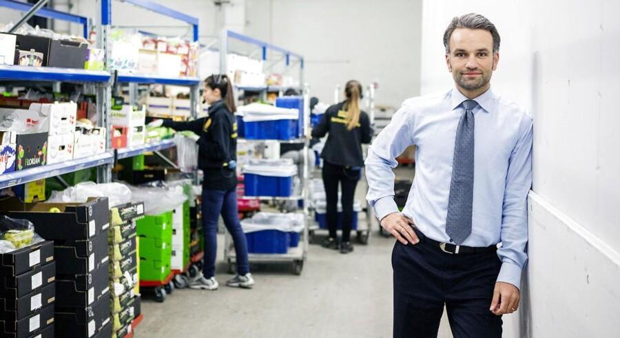 Ifølge en undersøgelse fra Eniro Danmark er antallet af danskere, der foretrækker at købe dagligvarer på nettet stort set uændret over de seneste år, og tallet ligger lavt på otte procent. På billedet ses Stefan Plenge, adm. direktør for Nemlig.com