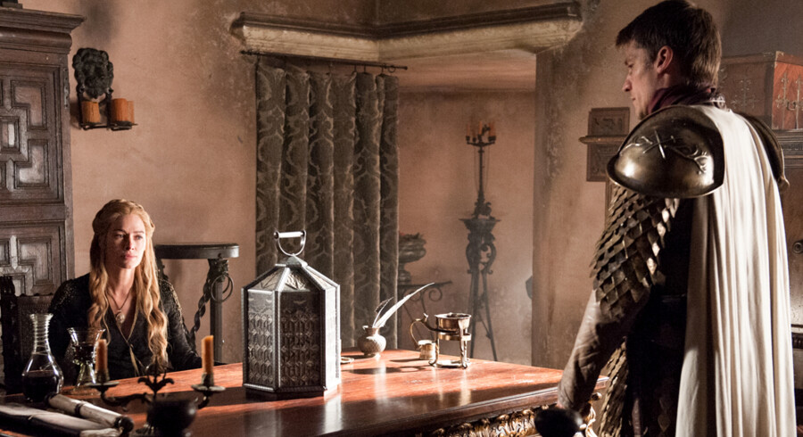 Lena Headey som Cersei Lannister og Nikolaj Coster-Waldau som Jaime Lannister. Foto: Helen Sloan/HBO