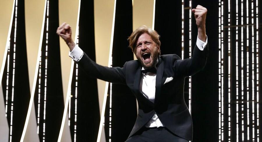 Ruben Östlund jublede igennem, da han fik guldpalmen i Cannes.