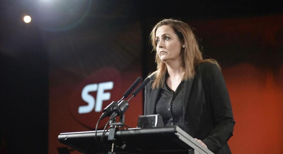 SF holder landsmøde den 18. og 19. april i Falkonercenteret på Frederiksberg. Her Pia Olsen Dyhr med sin åbningstale.