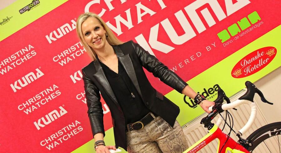Christina Watches har – med Christina Hembo som drivkraft – siden 2010 investeret i professionel cykelsport. Holdet fik i år vask- og bordpladeproducenten KUMA som medsponsor. PR-foto