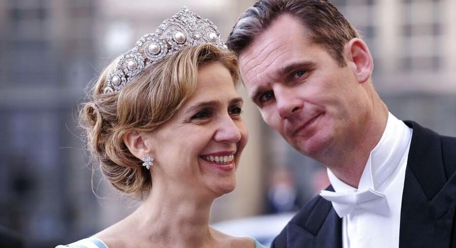 ARKIVFOTO. Den spanske prinsesse er blevet involveret i sagen via sit ægteskab med den tidligere håndboldstjerne Inaki Urdangarin