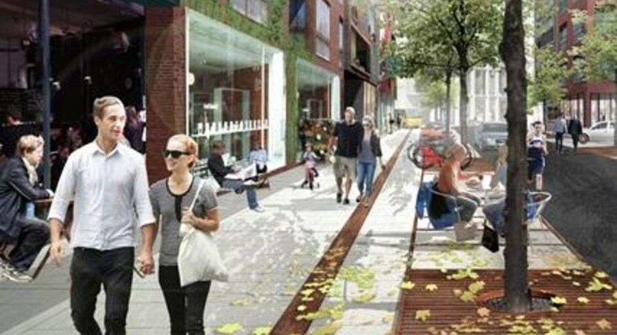 Stenrig fond blander blod med By & Havn, så Århusgadekvarteret får butikker og cafeer i massevis - med Gammel Kongevej som forbillede.