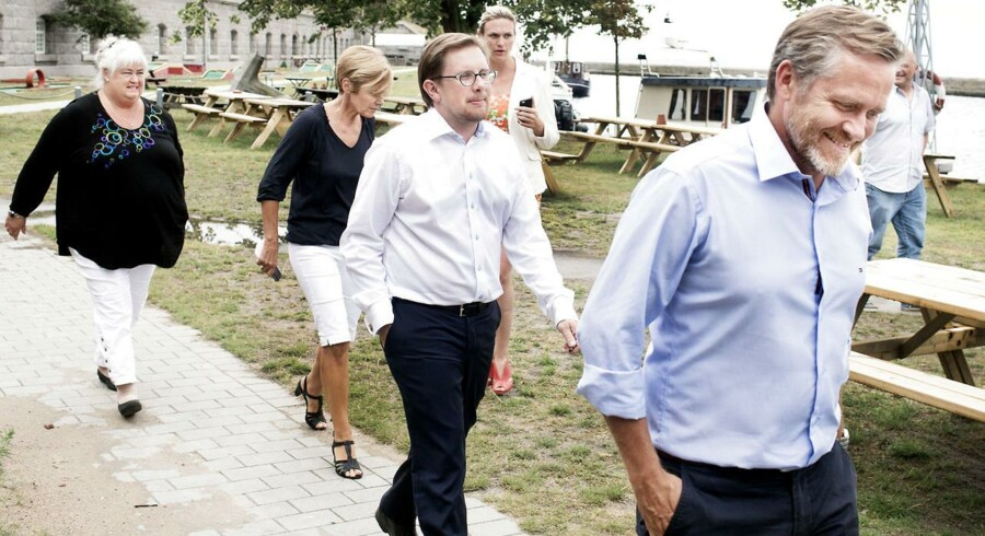 Arkivfoto: Liberal Alliance under partiets sommergruppemøde på Flakfortet i august 2014.