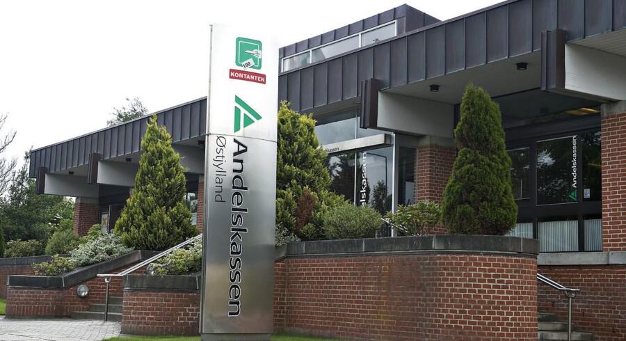 Danske Andelskassers Bank. Hovedsæde på Viborgvej i Hammershøj mellem Randers og Viborg