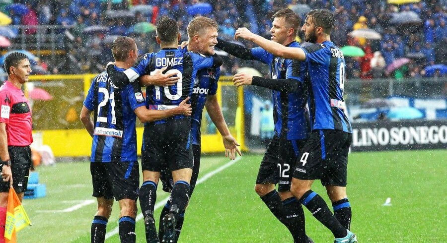 Andreas Cornelius fik det sidste kvarter som indskifter, da Atalanta slog Everton med 3-0 i Europa League.