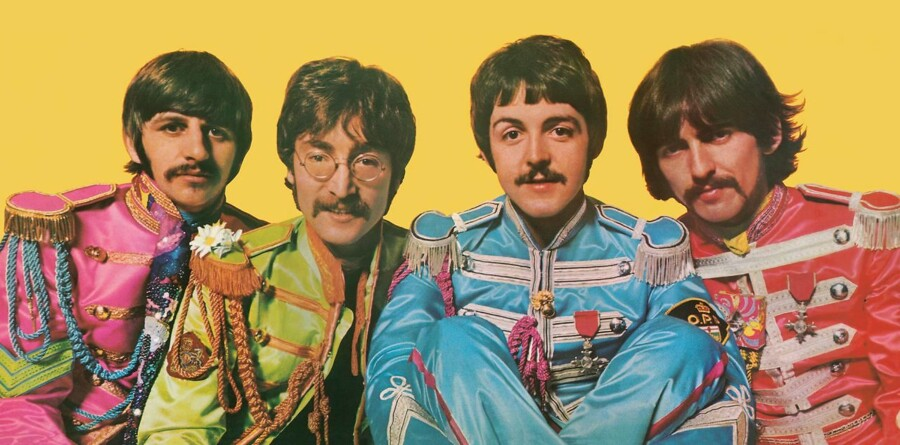 The Fab Four fra inder-sleevet på »Sgt. Pepper«.