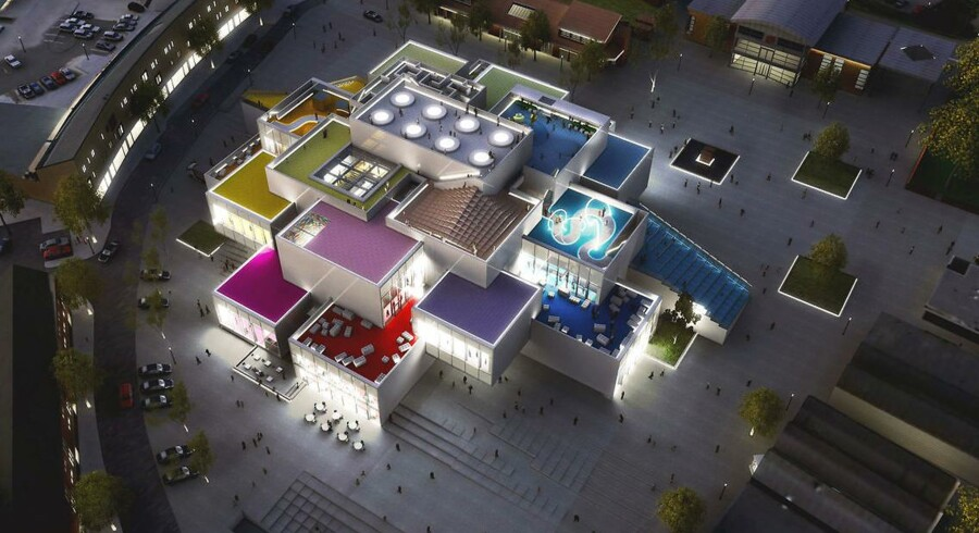 Senere på året åbner oplevelseshuset Lego House i Billund - men her kan du få et smugkig. På toppen af Lego House er planlagt legepladser og tagterrasser.