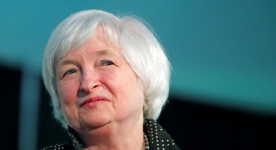 Formand for den amerikanske centralbank, Janet Yellen.