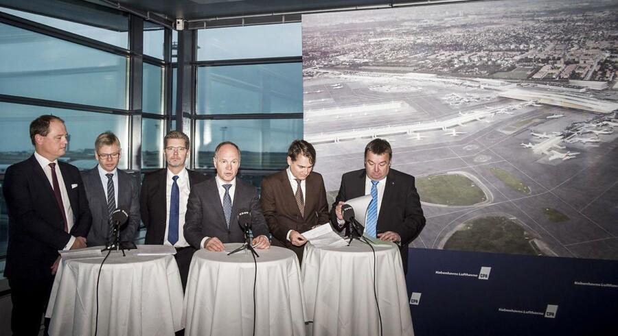 Pressemøde i Københavns Lufthavne.