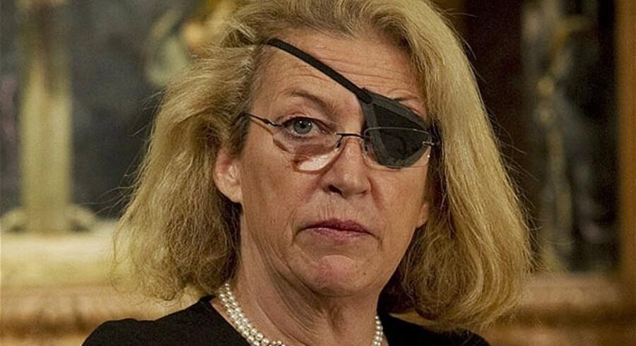 Marie Colvin (f. 1956) - af mange kaldet »verdens bedste krigskorrespondent« - omkom i Syrien i februar 2012. Hun mistede sit øje 11 år tidligere under et raketangreb i Sri Lanka. Foto: The Telegraph