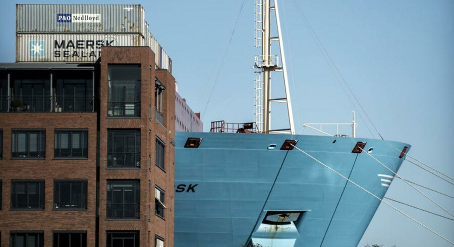 ARKIV: A.P. Møller-Mærsks gigantskib, der ligger ved Langelinie.
