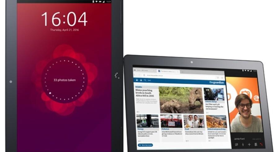 Den første tavle-PC med Ubuntu er klar om et par måneder og vil kunne fungere som både bærbar og stationær PC. Foto: Canonical