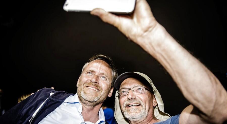 Anders Samuelsen, partileder af Liberal Alliance, under Folkemødet i Allinge på Bornholm.