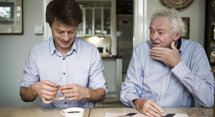 Janus Aarup og Bo Bonfils er et umage par, der kan tale i timevis om deres fælles passion for armbåndsure. Foto: Emil Hougaard
