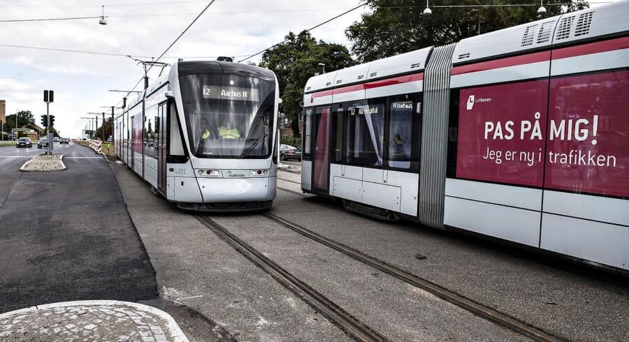 Den planlagte åbning af Aarhus Letbane kommer ikke til at ske lørdag efter styrelses afgørelse. (Foto: Henning Bagger/Scanpix 2017)