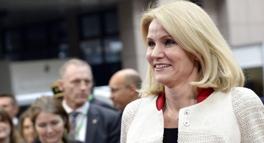 Helle Thorning-Schmidt (S) til topmøde i Bruxelles.