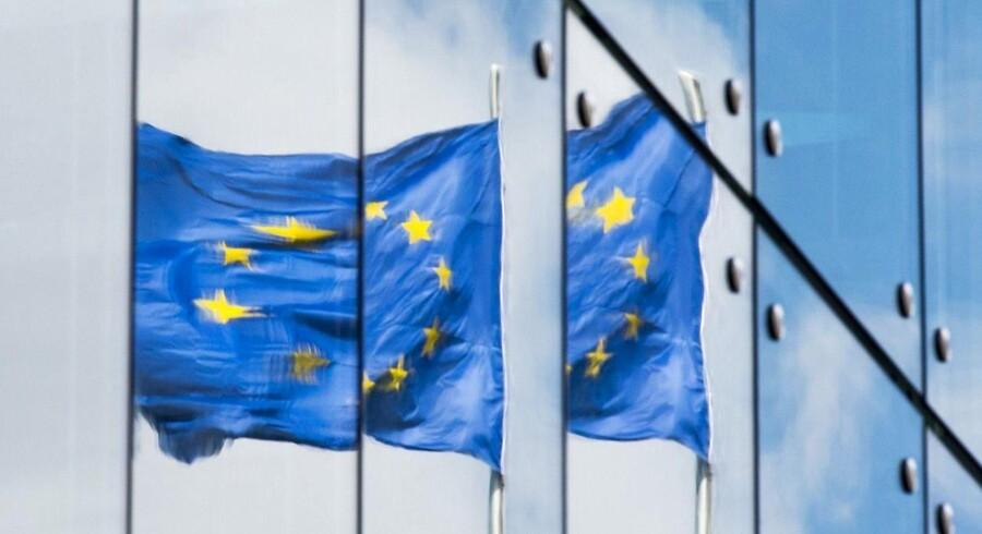 Arkivfoto: Spejling af det Europæiske flag