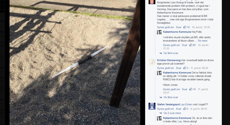 Et - med al respekt - ret dårligt billede af et stykke legetøj på en legeplads fik tusindvis af voksne mennesker til at more sig på Københavns Kommunes hjemmeside i den forløbe uge.