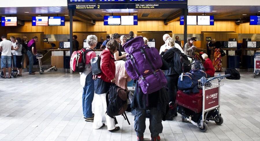 Rejsende i Københavns Lufthavn.