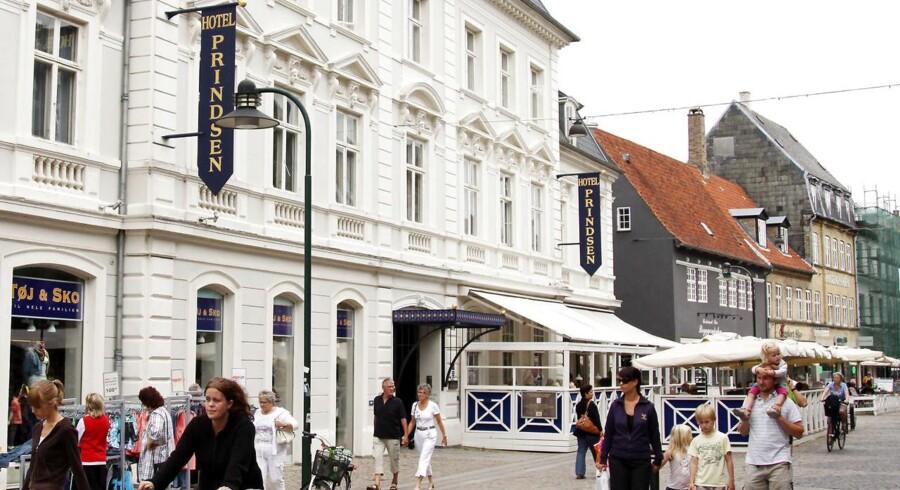Hotel Prindsen på gågaden i Roskilde. ARKIVFOTO.