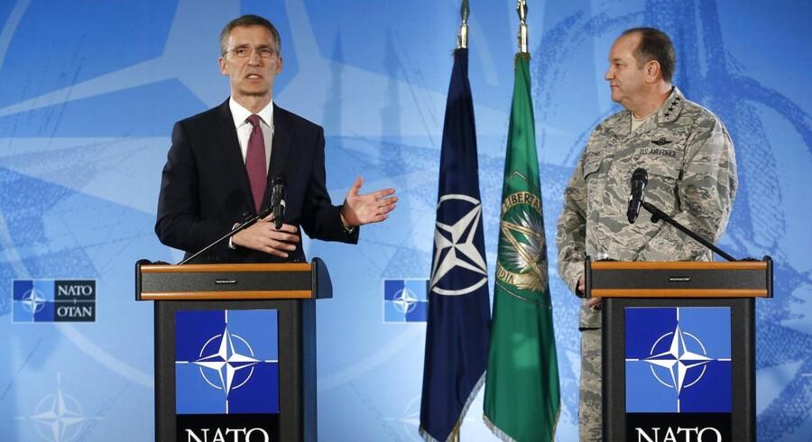 NATOs generalsekretær Jens Stoltenberg mødtes onsdag med den amerikanske general, Philip Breedlove.