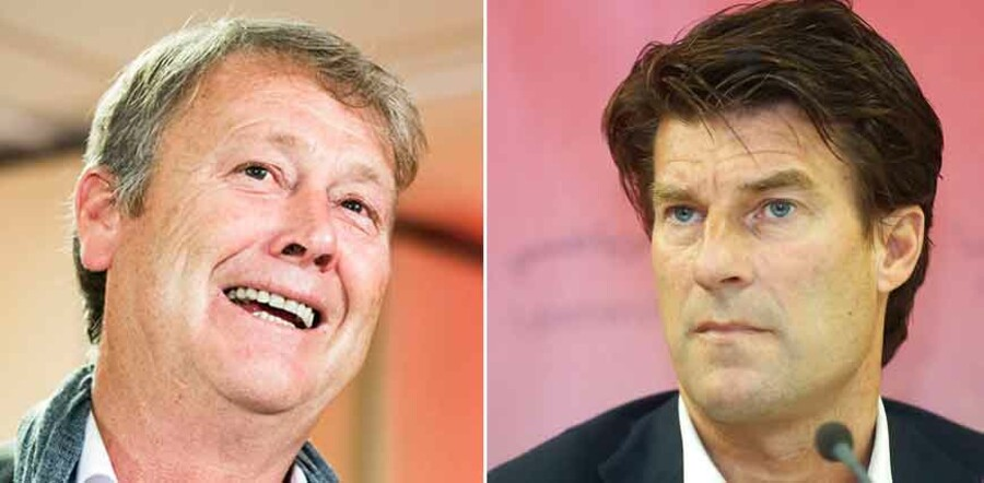 TV: Åge Hareide. TH: Michael Laudrup.