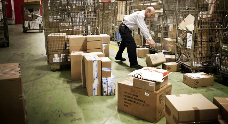 Post Danmark har slået rekord og har i løbet af december leveret mere end otte millioner pakker. Arkivfoto.