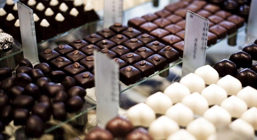 Her er vi hos Peter Beier Chokolade på Strandvejen.
