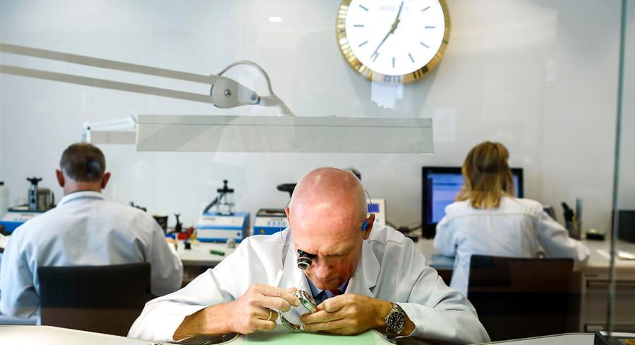 kopi-Rolex Klarlund. Butikkens værksted Urmager Lars Rasmussen er værkfører for Klarlunds urværksteder.
