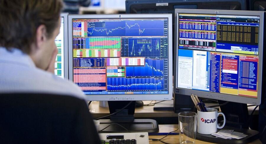 Arkivfoto: Aktiehandel.