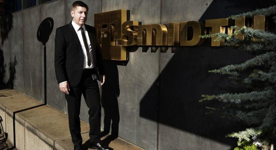 FLSmidth får mindre ordrer. Her ses topchef i beton- og minefabrikselskabet FLSmidth, Thomas Schultz.