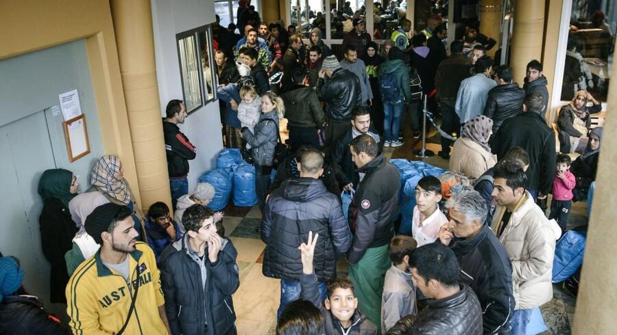 Flere flygtninge er utilfredse med foholdene på Bornholm, hvor de ankom til og blev indkvarteret søndag. ARKIVFOTO