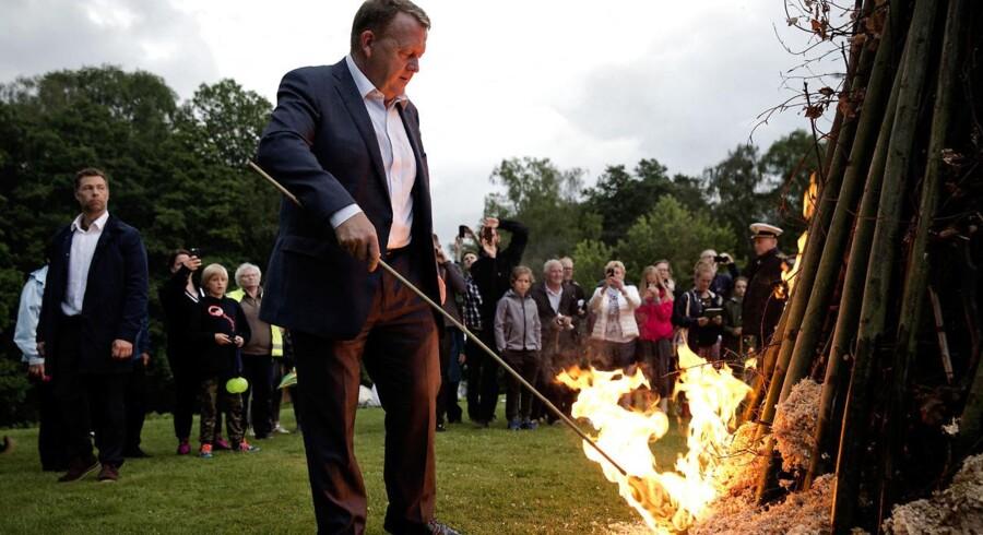 Statsminister Lars Løkke Rasmussen inviterede til Sankt Hans Aften i Marienborg Have.