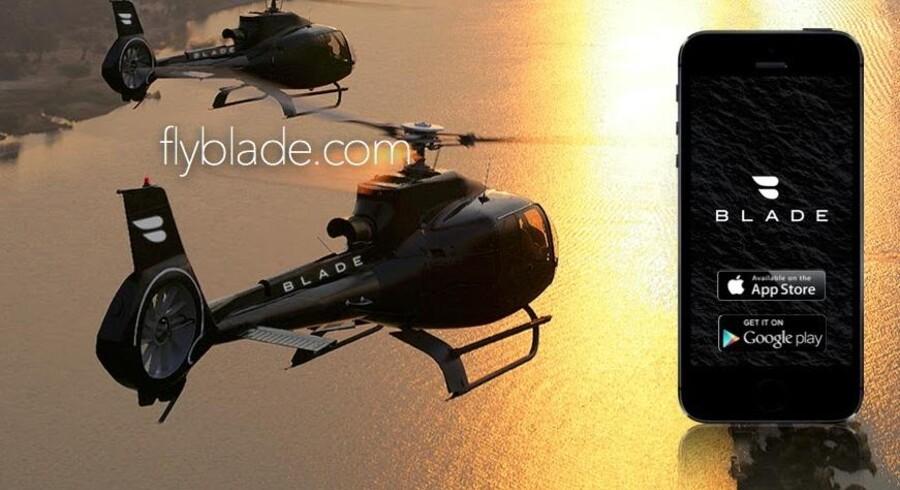 En ny app har set dagens lys, og selvom den kan lyde som noget kun for de allerrigeste, har den bragt helikopterflyvning ned på et niveau, hvor selv de næstrigeste kan følge med. Det er dog stadig en bekostelig affære at vælge helikopter til og tog eller bil fra.