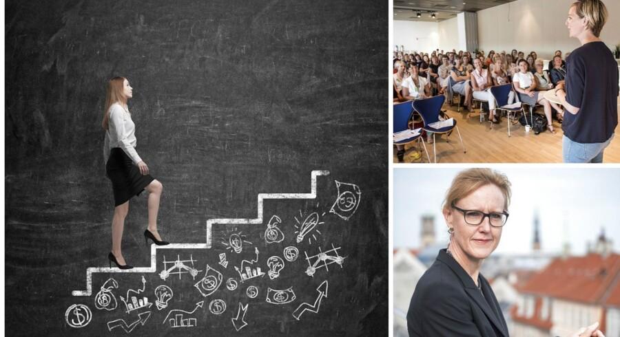 Billedet øverst th. Ida Auken og Dorthe Harding Keilberg, partner Deloitte Consultning (nederst tv.)