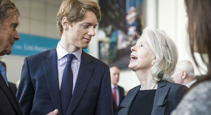 Generalforsamling i Mærsk i Bella Centret. Her er det Ane Mærsk Mc-Kinney Uggla og hendes søn Robert Mærsk Uggla, der netop er blevet valgt ind i bestyrelsen.