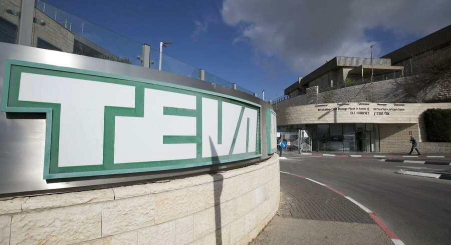 Teva Teva Pharmaceutical Internationals logo i hovedkvarteret i Jerusaem. EPA/ATEF SAFADI