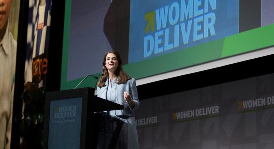 »Jeg vil i dag annoncere, at vores fond donerer 80 millioner dollar til arbejdet med at dække manglen på data om kvinder og til at tilføre nye data,« det fortæller Melinda Gates, hustru til Microsoft-grundlæggeren Bill Gates, på den internationale Women Deliver-konference i København.