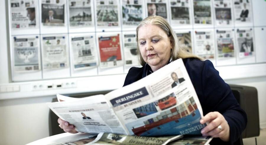 ARKIVFOTO. Koncernchef Lisbeth Knudsen fortsætter fremgangen i Berlingske Media.