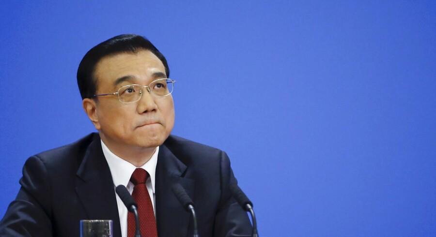 Den kinesiske premierminister, Li Keqiang. REUTERS/Kim Kyung-hoon