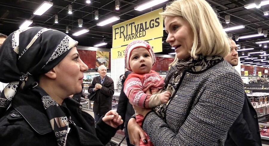 Statsminister Helle Thorning-Schmidt besøgte Bilka i Ishøj mandag