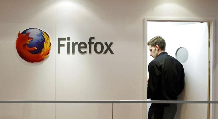 Organisationen bag Firefox har været ramt af stor ballade, efter at det kom frem, at den nye topchef - som ikke er manden på billedet - havde støttet en lov mod homoseksuelle ægteskaber. Arkivfoto: Albert Gea, Reuters/Scanpix