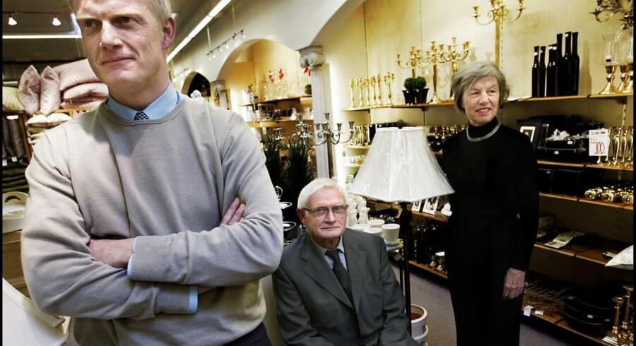 Familiefirmaet Bahne. Jacob Bahne Sørensen, Ellen Bahne Sørensen og Jørgen Bahne Sørensen fotograferet i 2003.