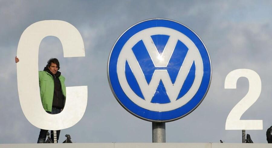 Greenpeace-protest mod Volkswagens misvisende CO2-oplysninger