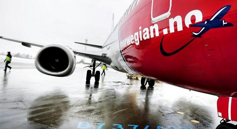 ARKIVFOTO: Det norske lavprisflyselskab Norwegian havde i alt 2.520.220 passagerer med om bord på flyene i november, og det er 11 pct. flere end i samme periode sidste år.