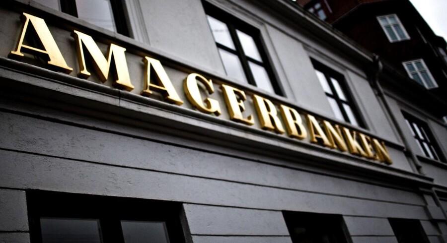 ARKIVFOTO 2011 af Amagerbanken hovedkvarter på Amager- - Retten i Lyngby afsiger i dag d. 12. juni 2017 dom i sagen om tab på i alt 900 millioner kroner i Amagerbanken. Det er statens selskab Finansiel Stabilitet, der har rejst krav mod syv personer fra den tidligere ledelse og bestyrelse, heriblandt bestyrelsesformand Niels Erik Nielsen og direktør Jørgen Brændstrup. Desuden er fire medlemmer af bestyrelsen sagsøgt for et krav om 300 millioner kroner. Sagen begyndte i april sidste år, og behandlingen er gået hurtigere end ventet.Se Ritzau.. (Foto: Esben Salling/Scanpix 2017)